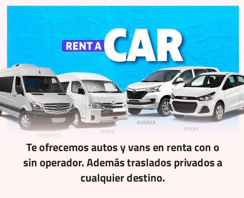 Autos y Vans en renta
