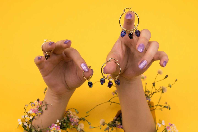 Loveskull earrings